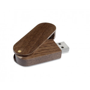 Pendrive memoria usb woodyflash.Rotatoria de madera